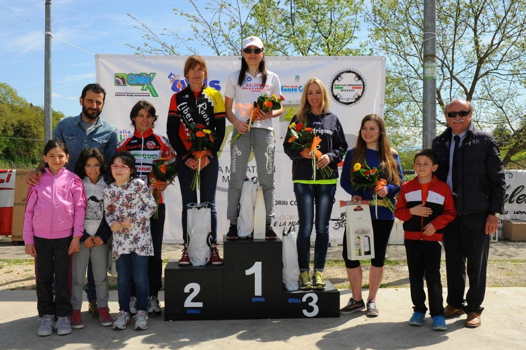 Baschi podio donne giro lungo