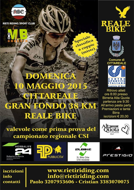 Locandina Reale Bike 2015