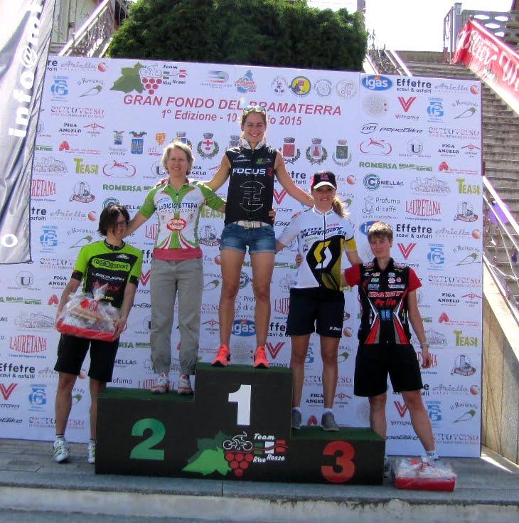 podio assoluto donne Gf Bramaterra - Frasisti 4^
