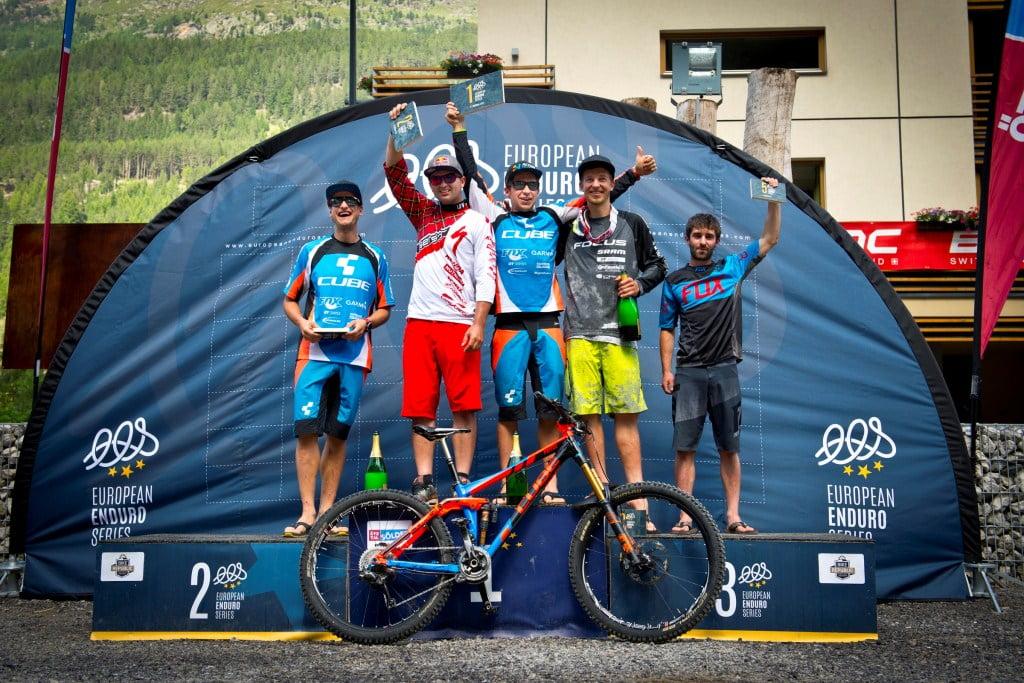 Podium Men Elite: 1 Nico Lau | 2 Michal Prokop | Markus Reiser | 4 Gustav Wildhaber | Robert Williams © Manfred Stromberg