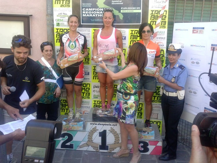 Calanchi Bike 2015 podio marathon donne
