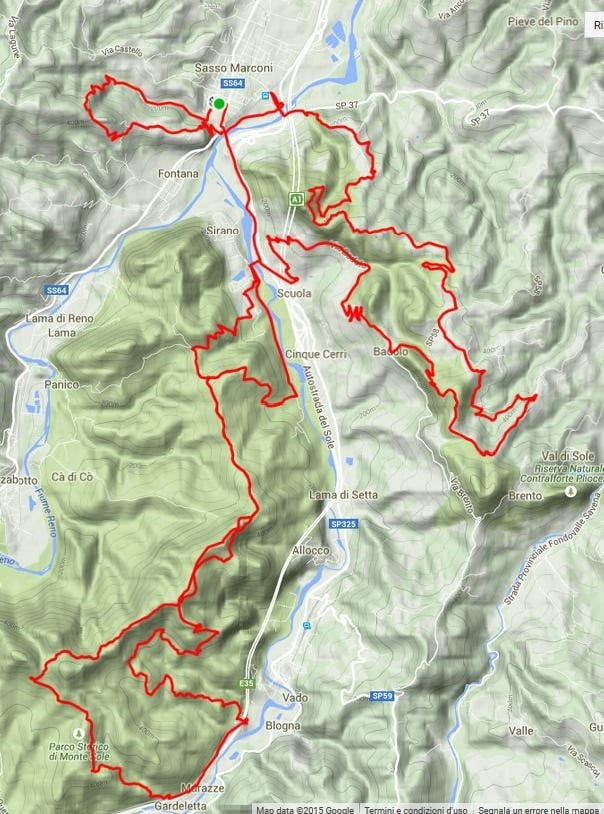 Percorso Marathon Sasso MTB Race