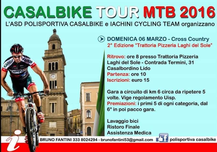Locandina 1°prova Casalbike Tour 06032016