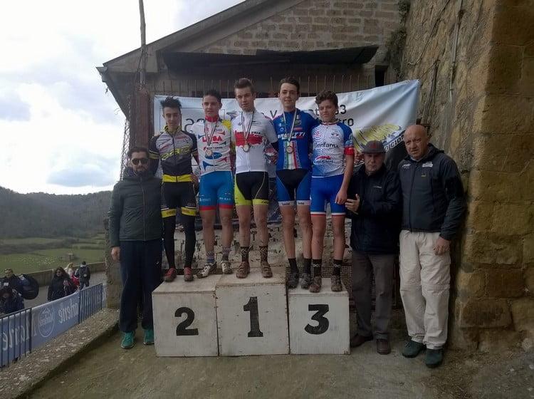 Memorial Zannoni-Bordo 2016 podio allievi 1anno