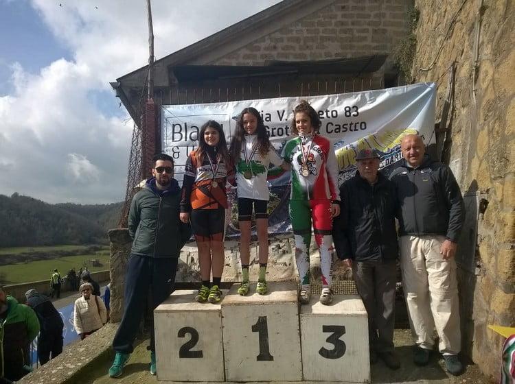 Memorial Zannoni-Bordo 2016 podio esordienti donne 1anno