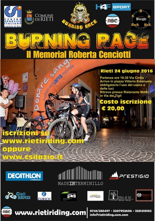 Locandina Burning Race 25062016