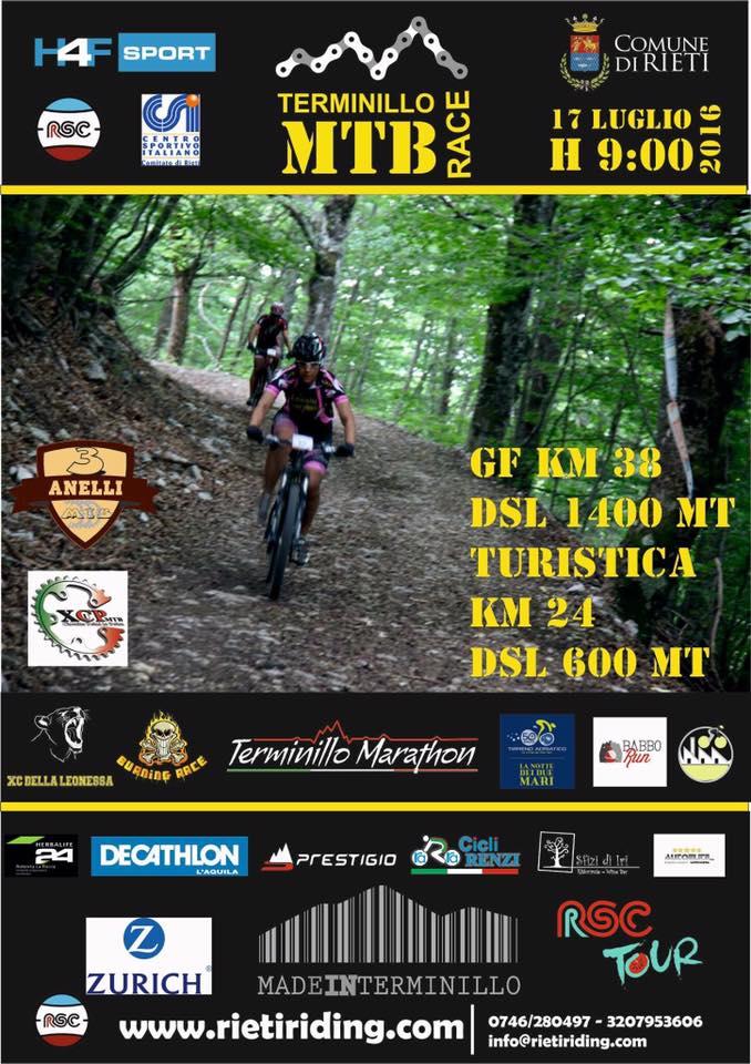 Locandina Terminillo Mtb Race 17072016