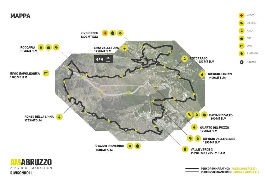 Percorso AmAbruzzo Marathon 17072016