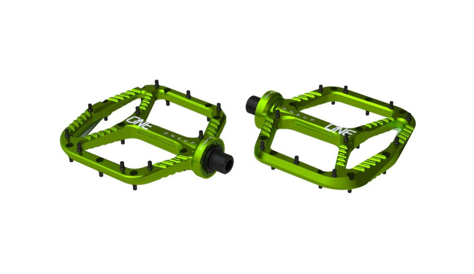 OneUp-Components-Alu-Flat-Pedal-Iso-Double-Green-966