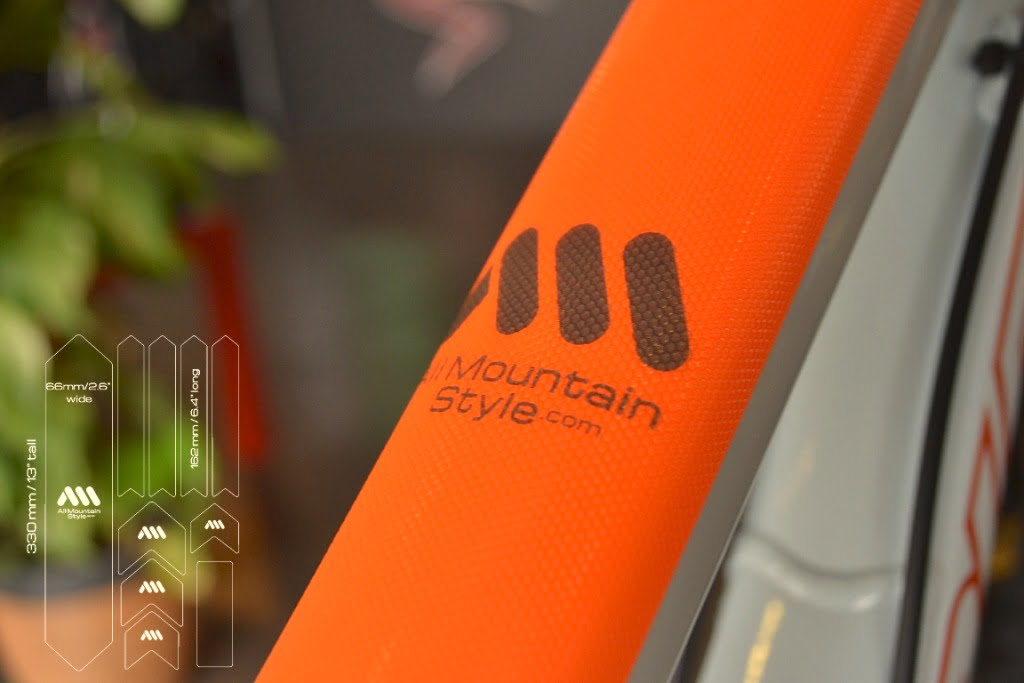 Close look at AMS Frame Guard XL orange fluor with size 2