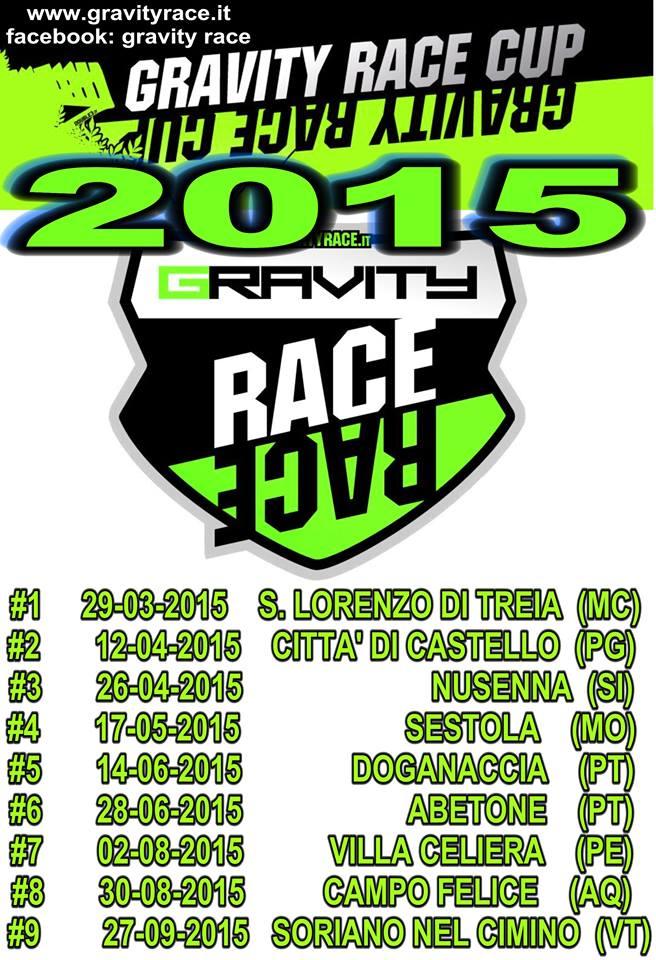 calendario gravity race cup 2015