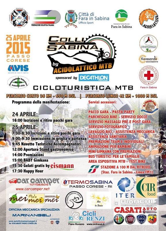 Locandina 2015 Cicloturistica Colli della Sabina