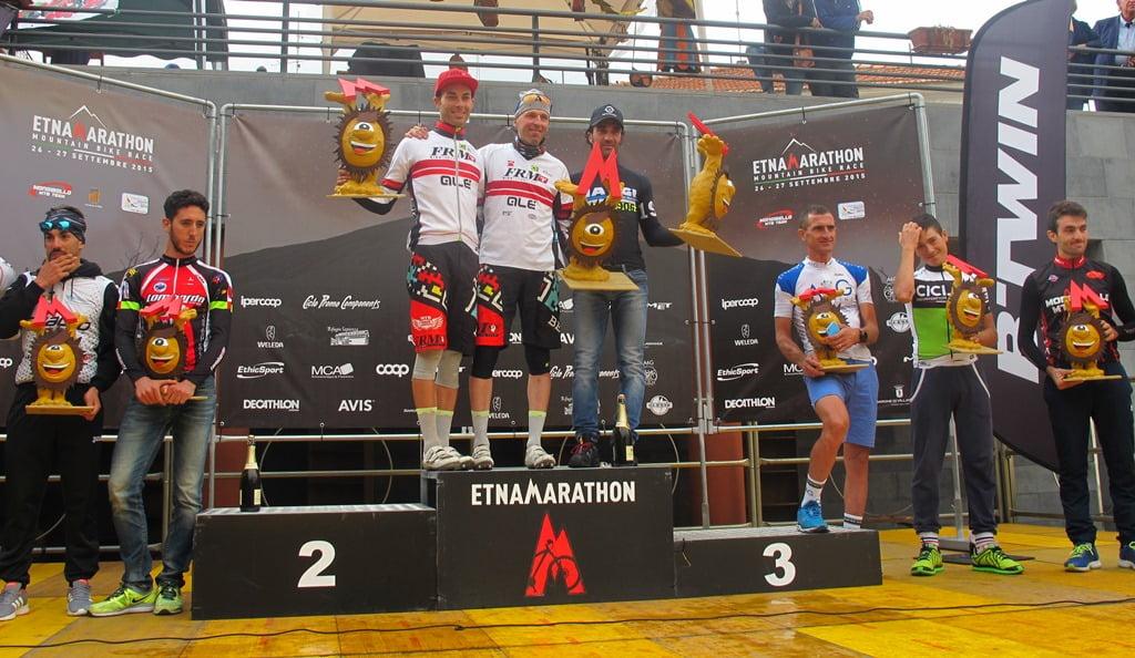 Podio maschile Marathon, Pirazzoli-Gambino-Di Salvo