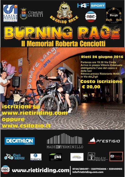 Locandina Burning Race 25062016