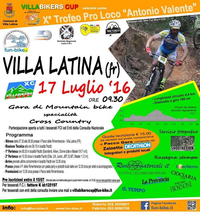 Locandina Villabikers Cup 17072016