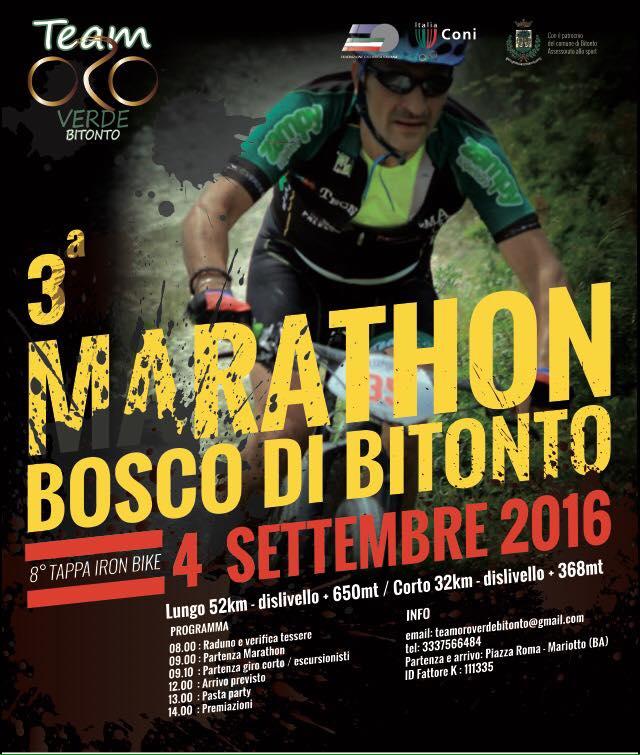 Marathon Bosco di Bitonto locandina 04092016