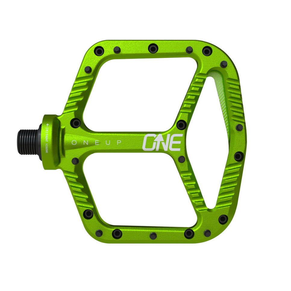 OneUp-Components-Alu-Flat-Pedal-Top-Green-966