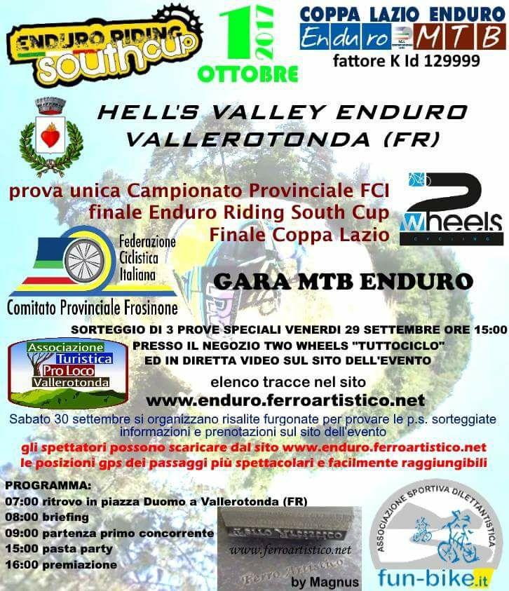 Hell's Valley Enduro 01102017 locandina