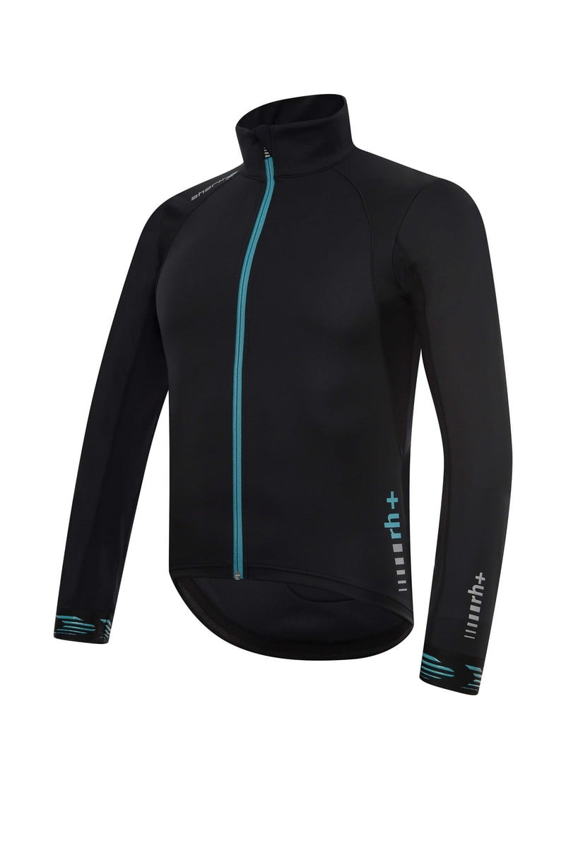 RH+ Shark Jacket front black with Polartec Power Shield Pro
